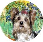 Yorkshire Terrier (Briewer)<br>Irises by Van Gogh