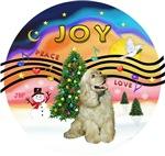 CHRISTMAS MUSIC #2<br>Buff Cocker Spaniel 2