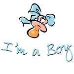 I'm a Baby Boy Bibs Creepers Gifts