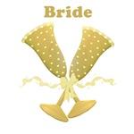 champagne bridal t-shirts
