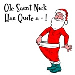 Saint Nick Dick Humor T-shirts & Holiday Gifts