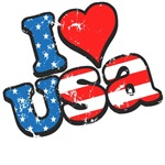 I Love the USA Fourth of July T-Shirts & Gifts