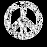 Classic Vintage Peace Sign: White T-Shirts