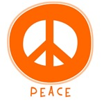 Peace Symbol: Orange T-Shirts & Gifts