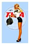 TWA Vintage Flight Attendant Advertising Print