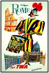 TWA Fly to Rome Print