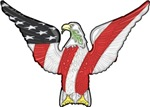 RED, WHITE, & BLUE EAGLE T-shirts & Gift Ideas