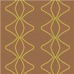 Gold Spirals On Brown