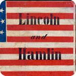 Lincoln and Hamlin 1860 Campaign Flag T-Shirt