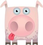 Pig Modern Animal Icon