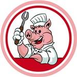 BBQ Chef Pig