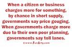 Price gouging & toll lanes
