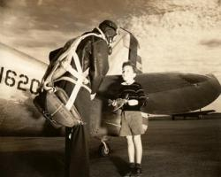 WWII Aviator and young boy