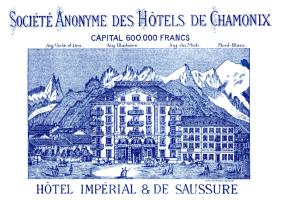 1887 Chamonix France Luggage Label