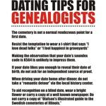 Dating Tips For Genealogists