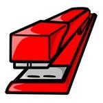 Red Office Stapler