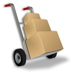 Moving Dolly with Boxes