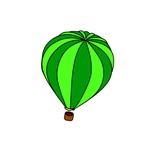 Green Hot Air Balloon