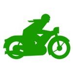 Green Vintage Motorcycle