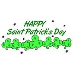 Happy St. Patrick's Day Clovers