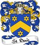 St. Denis Family Crest, Coat of Arms