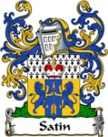 Satin Family Crest, Coat of Arms