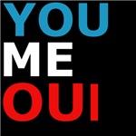 you + me = oui