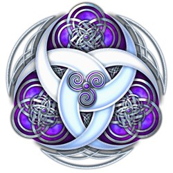 Celtic Triple Crescents - Purple