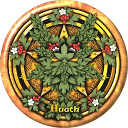 Hawthorn Celtic Greenman Pentacle