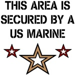 THIS AREA IS SECURED BY A US MARINE