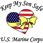 Keep My Son Safe Military Patriotic Heart