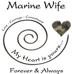 Marine Wife Love Courage Commitment