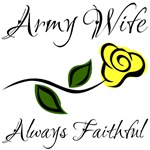 Army Wife Always Faithful with Yellow Rose