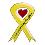 I Am Proud Of My Daughter Yellow Ribbon