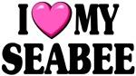 I Love ( pink heart ) My Seabee