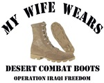 My wife wears desert combat boots OIF