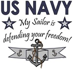 My Sailor is defending your freedom!
