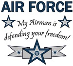 My Airman is defending your freedom!