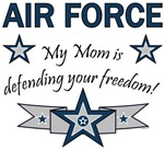 My Mom is defending your freedom!