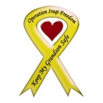 Keep My Grandson Safe Yellow Ribbon