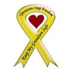 Keep My Grandson Safe Yellow Ribbon