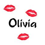Olivia kisses