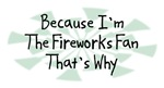 Because I'm The Fireworks Fan