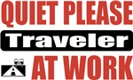 Quiet Please Traveler At Work