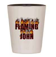 Custom flaming shot glasses