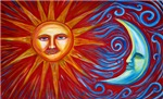 CELESTIAL SYMBOLS: the sun, moon & stars