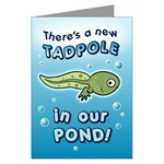 Tadpole Birth Announcement Cards