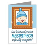 Masterpiece Baby Boy Birth Announcement Cards