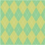 Green & Yellow Argyle