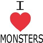 I Heart Monsters (black lettering)
